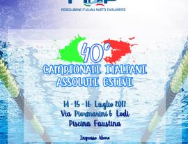 Al via il  40° Campionato Italiano Assoluto Estivo di Nuoto Paralimpico