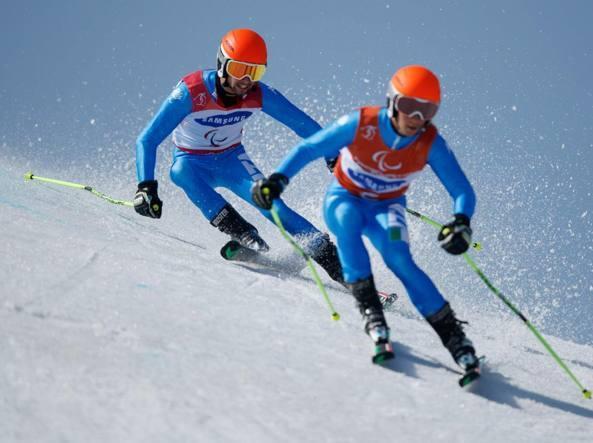 Paralimpiadi, la coppia Bertagnolli-Casal conquista l'oro nello Slalom Gigante