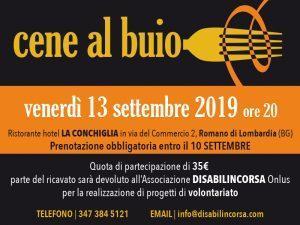 Romano di Lombardia, cena al buio al Ristorante La Conchiglia: venerdì 13 settembre, una serata da non perdere @ Ristorante Hotel La Conchiglia