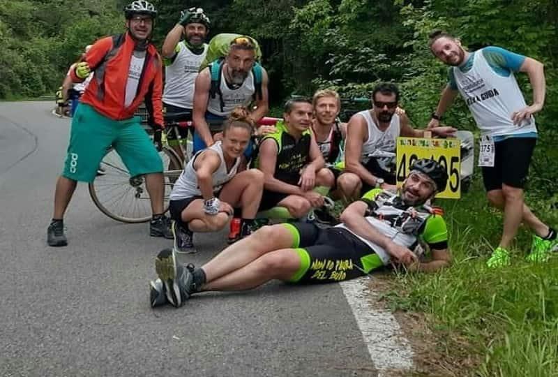 gruppo Disabilincorsa finisher Passatore 2019, in posa alla Colla
