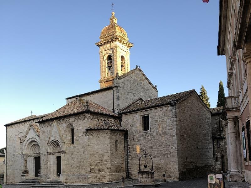 la chiesa di San Quirico d'Orcia