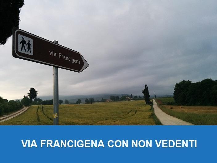 via Francigena con i non vedenti